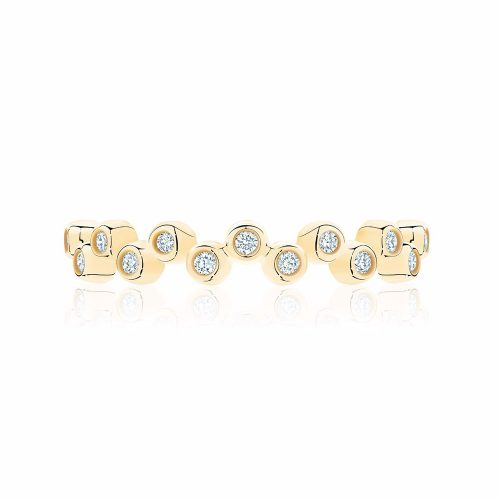 Birks Iconic® Stackable Yellow Gold and Diamond Splash Ring as worn by Meghan Markle