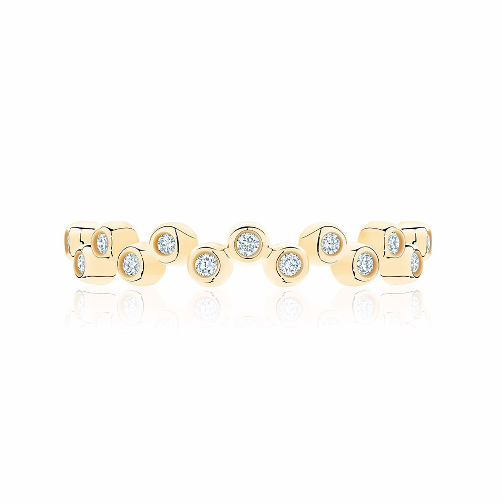 birks iconic174 stackable yellow gold and diamond splash