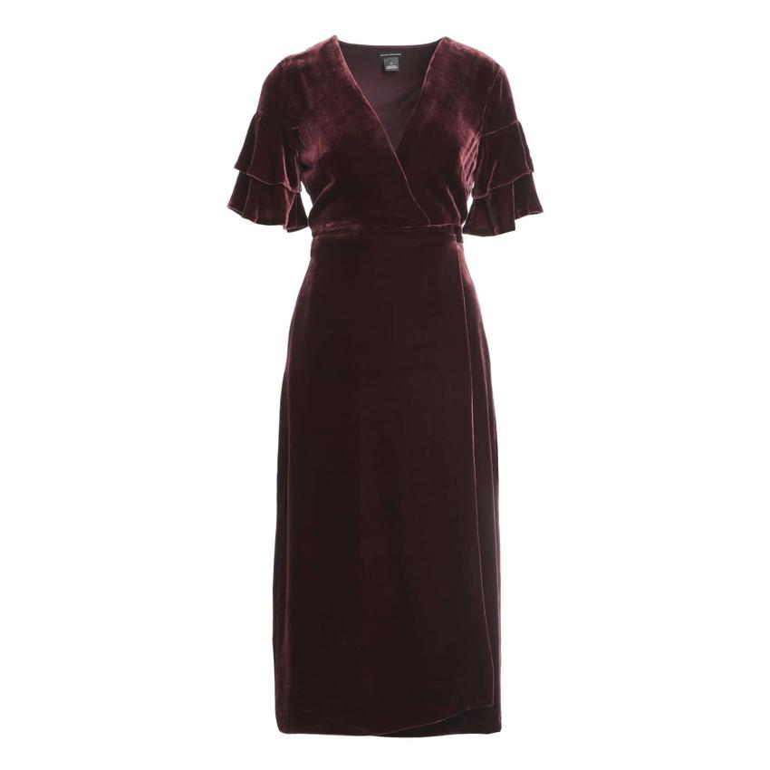 924dcf72551 Club Monaco  Tay  wrap dress with a V-neck in Dark Cherry as
