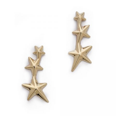 Gabriela Artigas Triple Shooting Star Earrings as worn by Meghan Markle