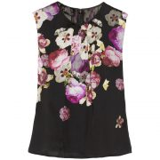Giambattista Valli Floral-Print Silk-Charmeuse Top as worn by Meghan Markle as Rachel Zane on Suits.
