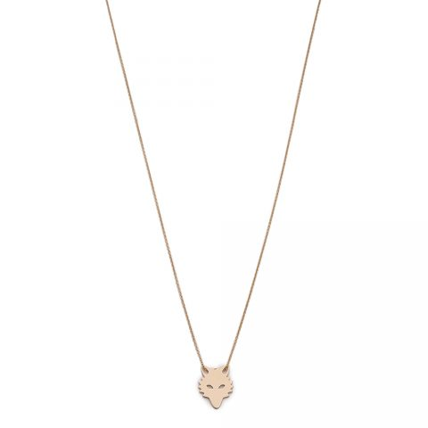 Ginette NY Mini Gold Wolf Chain Necklace as worn by Meghan Markle as Rachel Zane on Suits.