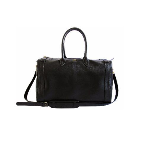 Hunting Season Black Pebble Leather Weekender as worn by Meghan Markle for travel