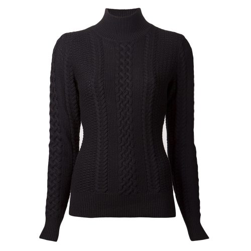 Jason Wu Long-Sleeve Cable-Knit Turtleneck Sweater in Black as seen on Meghan Markle as Rachel Zane on Suits Season 3 Episode 16.