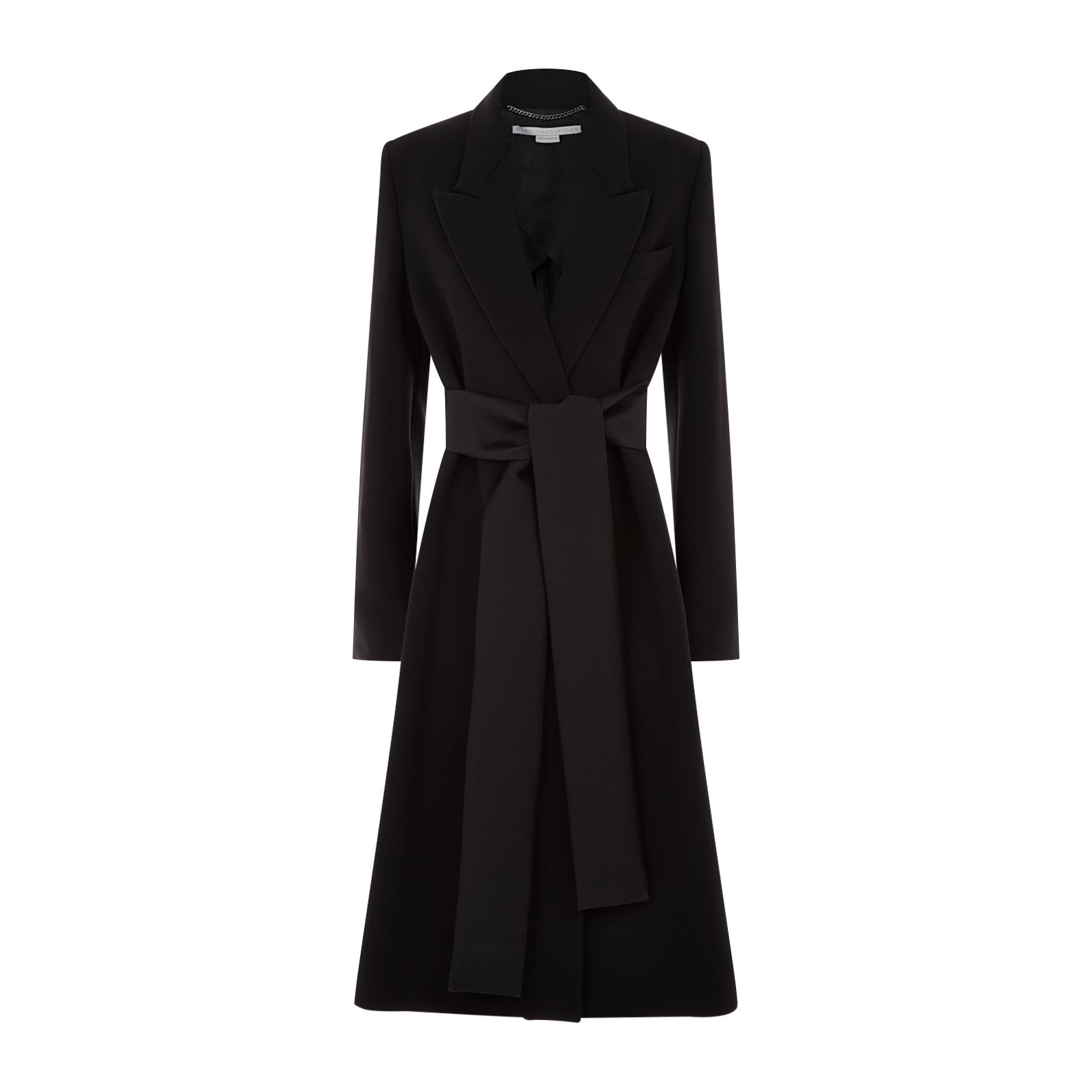 Stella Mccartney Tie Detail Coat Meghan Maven