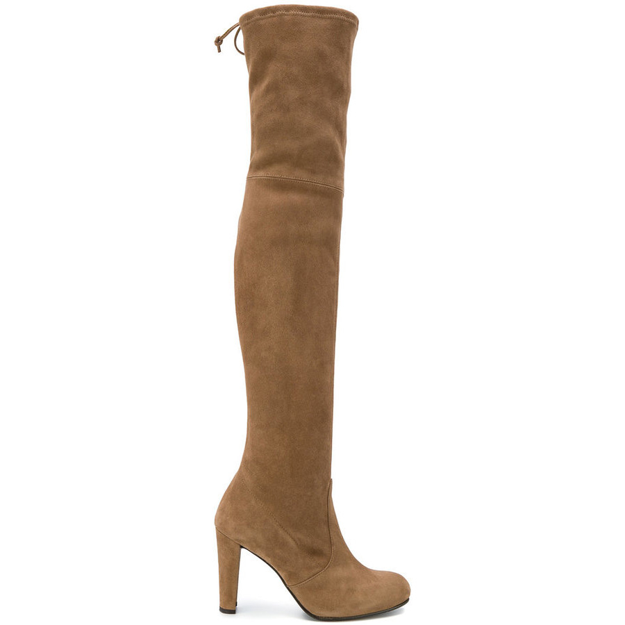 Stuart Weitzman Brown Suede Highland Boots as worn by Meghan Markle