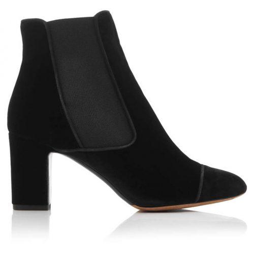 Tabitha Simmons Kiki Velvet Ankle Boots as worn by Meghan Markle