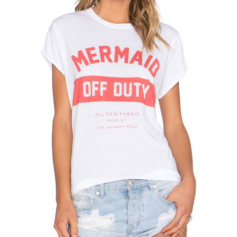The Laundry Room Mermaid Off Duty Rolling Tee as seen on Meghan Markle
