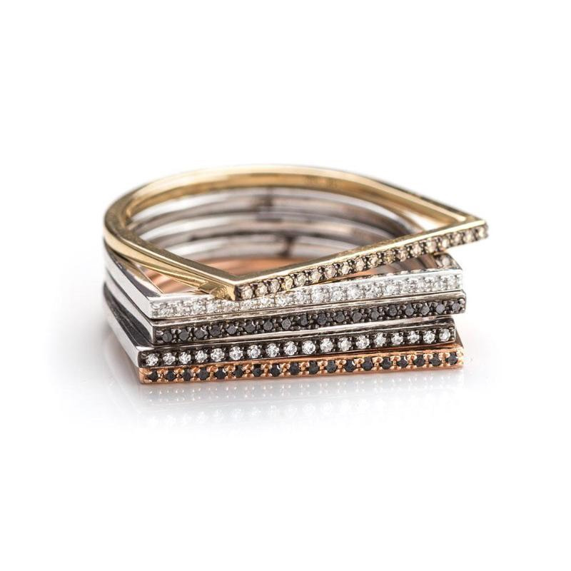 Zofia Day Co Bar Stack Rings as seen on Meghan Markle