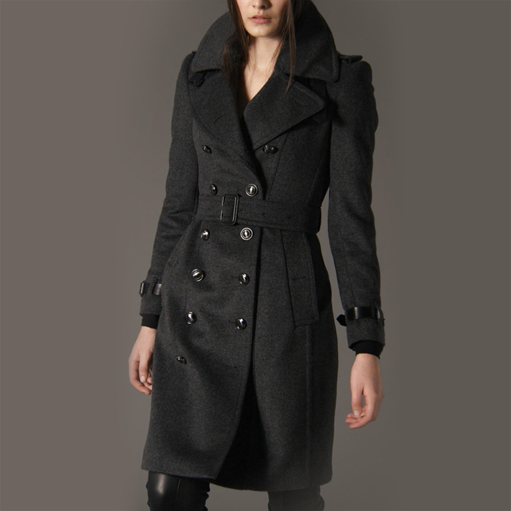 Burberry Long Wool Cashmere Trench Coat as seen on Meghan Markle as Rachel Zane on Suits.