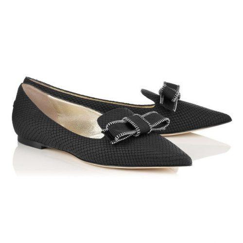 Jimmy Choo Gala Bow Flat Heels as worn by Meghan Markle