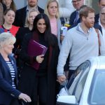 Meghan and Harry arriving at Sydney airport ahead of their first Royal tour on 15 October 2018.