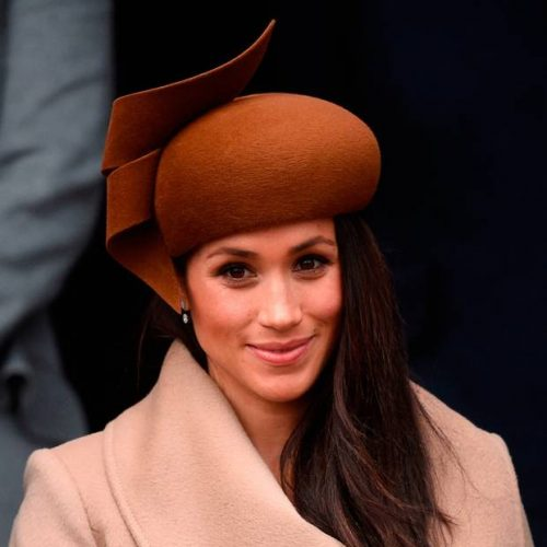 Custom-made Philip Treacy Felted Wool Headpiece Beret as worn by Meghan Markle