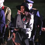 Meghan Markle at the Anzac Day dawn service at Hyde Park Corner on April 25, 2018 in London, England.