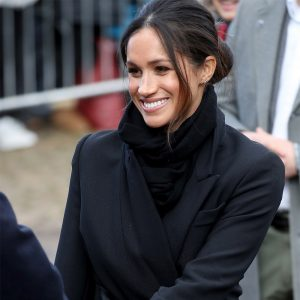 Meghan Markle and Prince Harry visit Cardiff Castle in Wales on January 18, 2018.