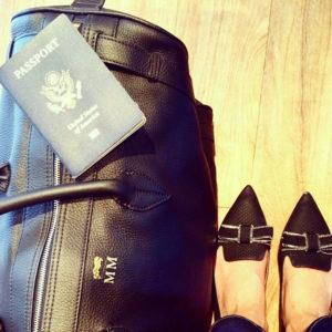 Meghan Markle Instagram - Hunting Season bag and Jimmy Choo heels