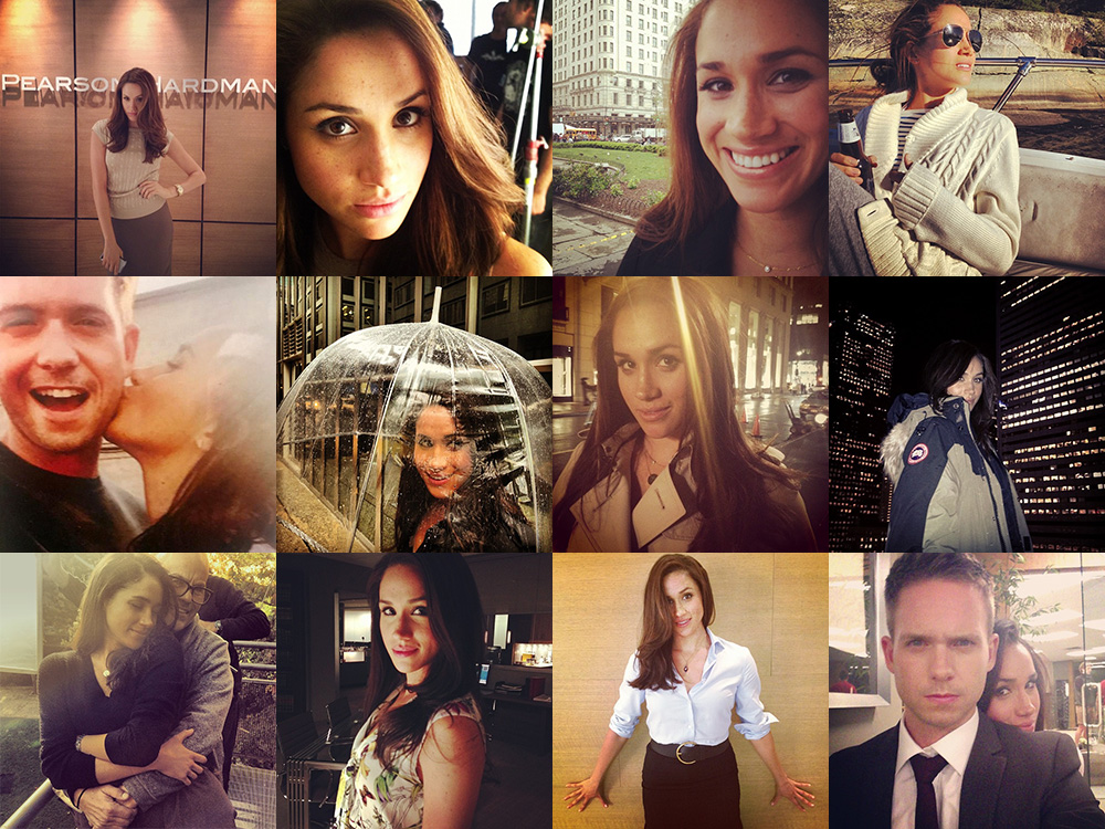 64 times Meghan Markle appeared on 'Suits' co-star Patrick J Adams Instagram