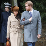 Meghan Markle and Prince Harry at St Mary Magdalene Church near Sandringham for Christmas service on Dec 25, 2017.