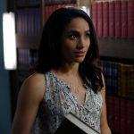 Meghan Markle wearing a Isabel Marant Alika Trapeze Top as Rachel Zane on Suits.