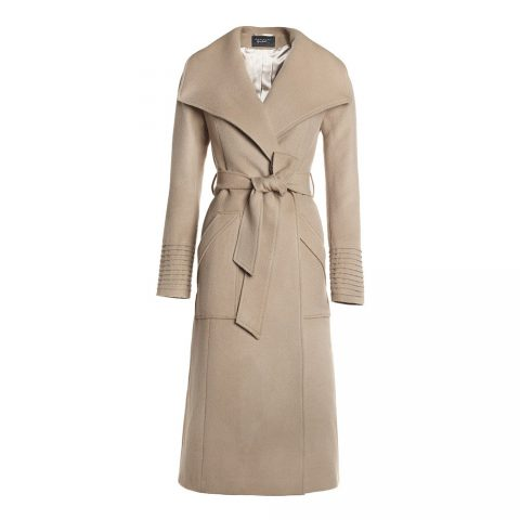 Sentaler Long Wide Collar Wrap Coat as worn by Meghan Markle