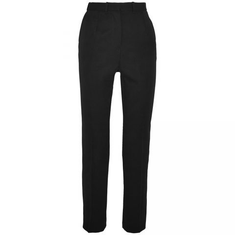 Alexander McQueen Grain de poudre wool straight-leg trousers as seen on Meghan Markle