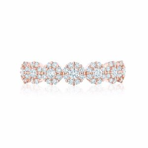 Birks Iconic ® Stackable Rose Gold and Diamond Snowflake Ring