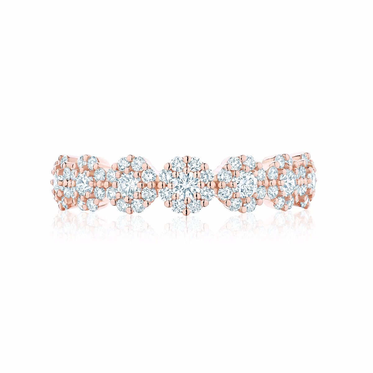 Birks Iconic ® Stackable Rose Gold and Diamond Snowflake Ring as worn by Meghan Markle