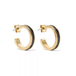 Isabel Marant Enameled Gold Hoop Earrings