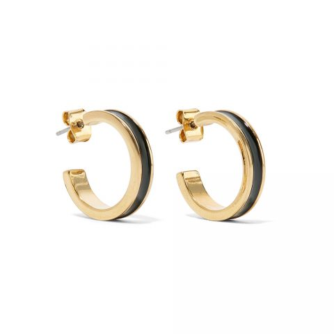 Isabel Marant Enameled Gold Hoop Earrings as worn by Meghan Markle