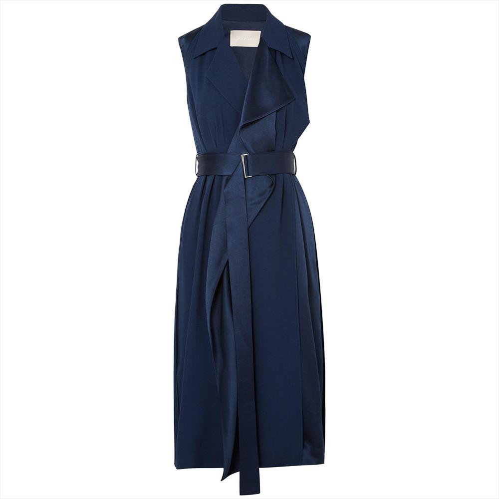 Jason Wu Belted Satin Wrap Dress | Meghan Maven