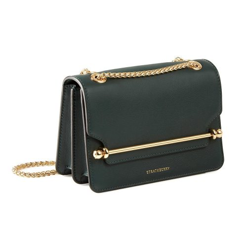 Strathberry East/West Mini Bag in Bottle Green as worn by Meghan Markle