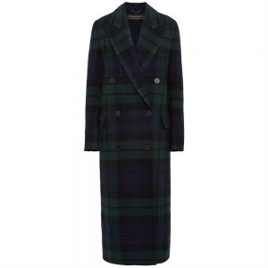 Burberry Double-breasted Tartan Coat