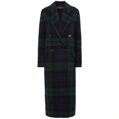 Burberry Double-breasted tartan wool and cashmere-blend coat as seen on Meghan Markle
