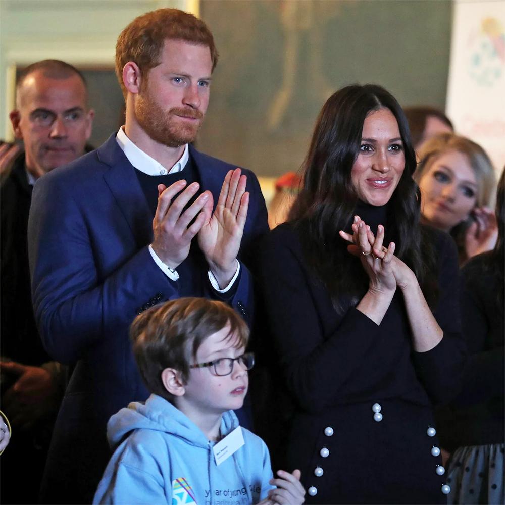 Meghan Markle and Prince Harry in Edinburgh, Scotland in February 2018.