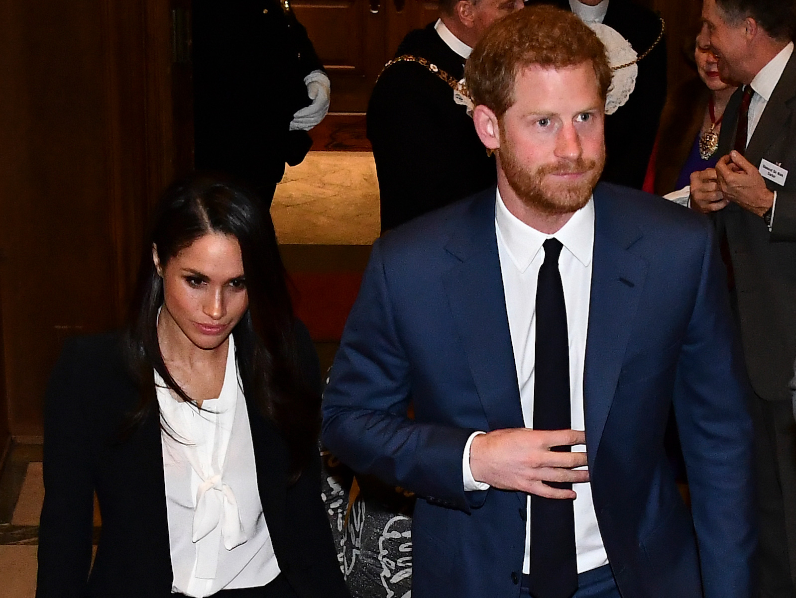 Meghan Markle and Prince Harry at the 2018 Endeavour Fund Awards at Goldsmiths' Hall on February 1, 2018 in London, England.