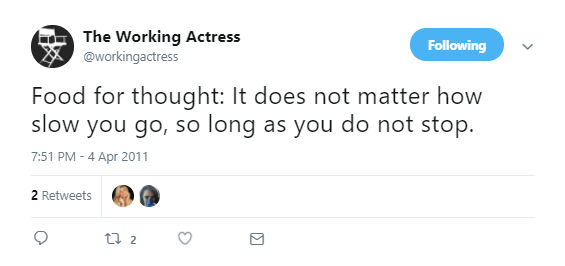 Meghan Markle aka The Working Actress Food For Thought Tweet
