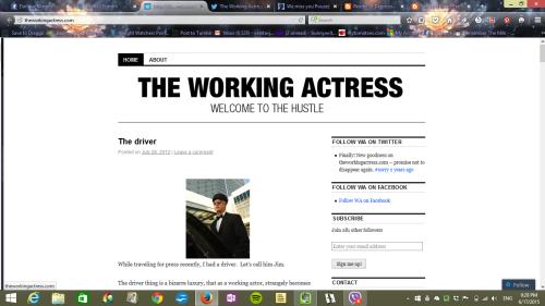 Meghan Markle The Working Actress Website Screenshot
