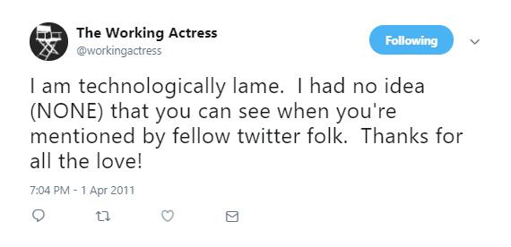Meghan Markle aka The Working Actress Tweet