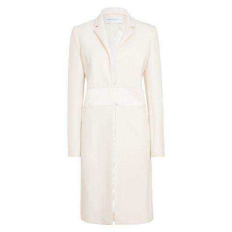 Amanda Wakeley Cream Sculpted Tailoring Crombie Coat as seen on Meghan Markle