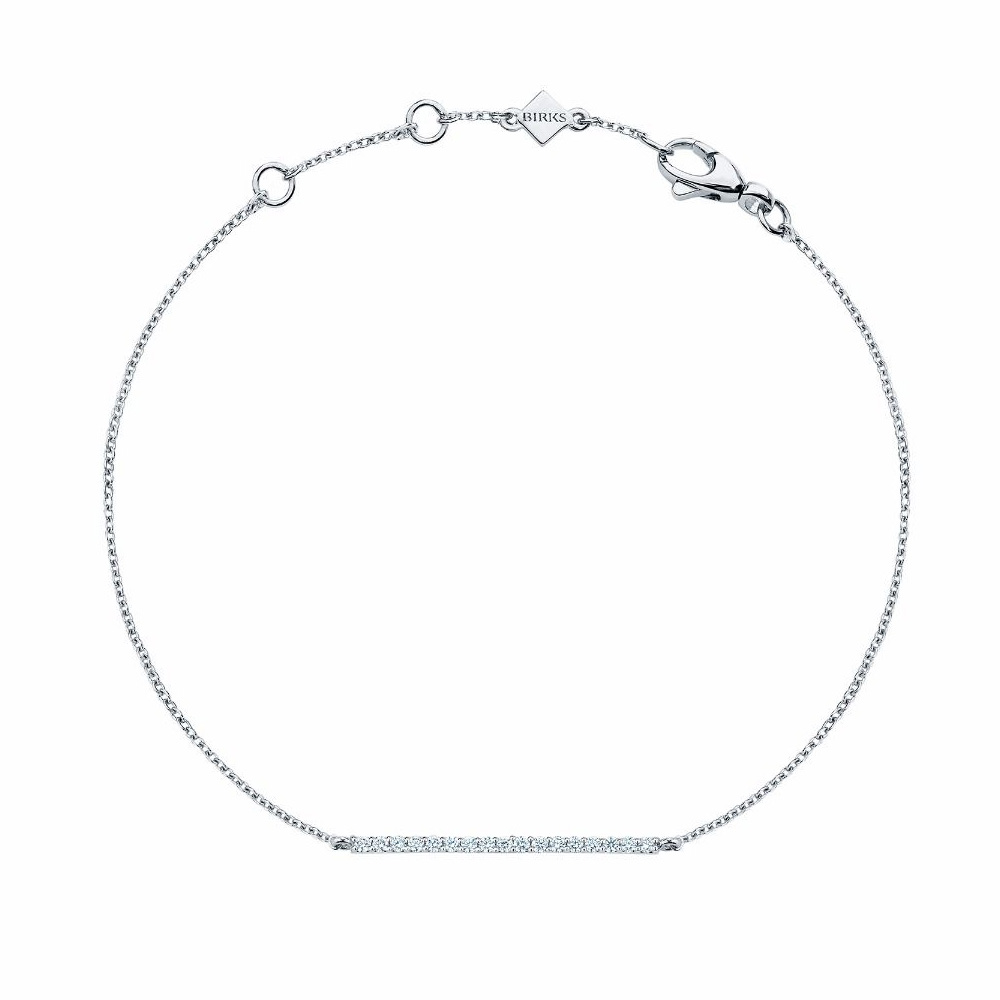 Birks Rosée Du Matin Diamond Horizontal Bar Bracelet as seen on Meghan Markle