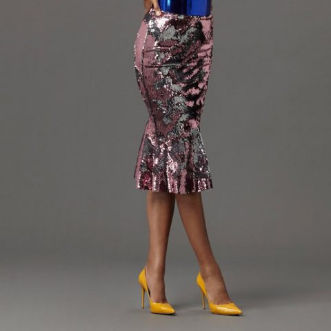 Greta Constantine Kace Skirt in sequin