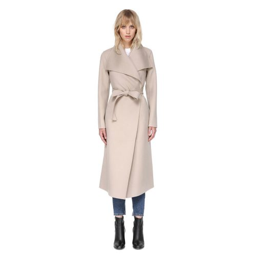 Mackage Mai Belted Wool Coat With Waterfall Collar as seen on Meghan Markle.
