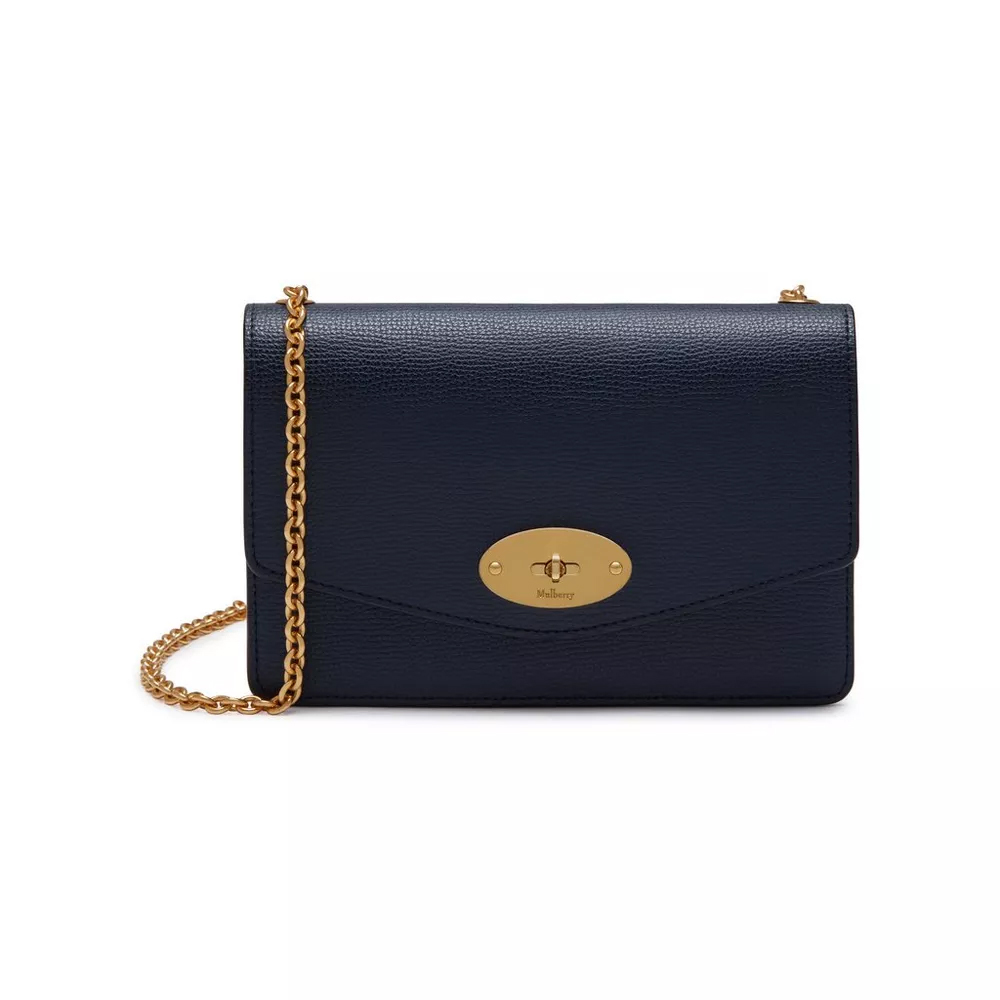 Mulberry Small Darley Bright Navy Cross Grain Leather as worn by Meghan Markle