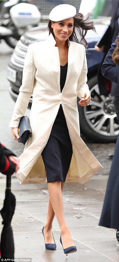 Meghan Markle at the Commonwealth Day Service at Westminster Abbey in London, England, on March 12, 2018.