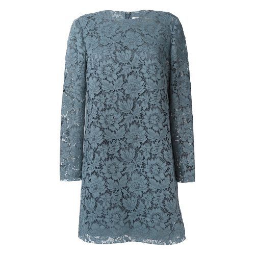 Valentino Blue Floral Lace Dress as worn by Meghan Markle as Rachel Zane on Suits