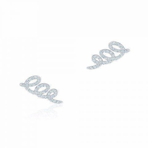 Birks Diamond Swirl Earrings as seen on Meghan Markle