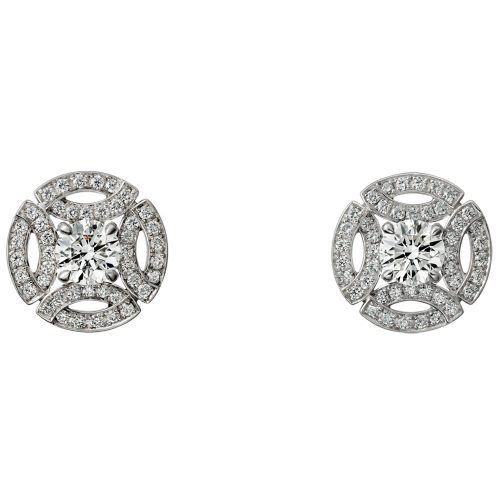 Cartier White Gold Diamond Earrings as seen on Meghan Markle