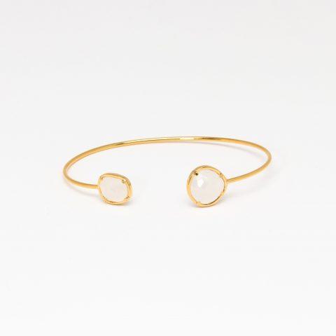 Tai Jewelry Moonstone Open Cuff as seen on Meghan Markle