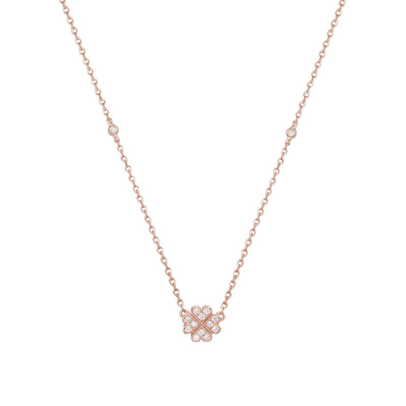 Vanessa Tugendhaft Clover Hearts Necklace Meghan Maven