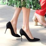 Shoe detail: Meghan Markle attend the Invictus Games Reception at Australia House on April 21, 2018 in London, England.